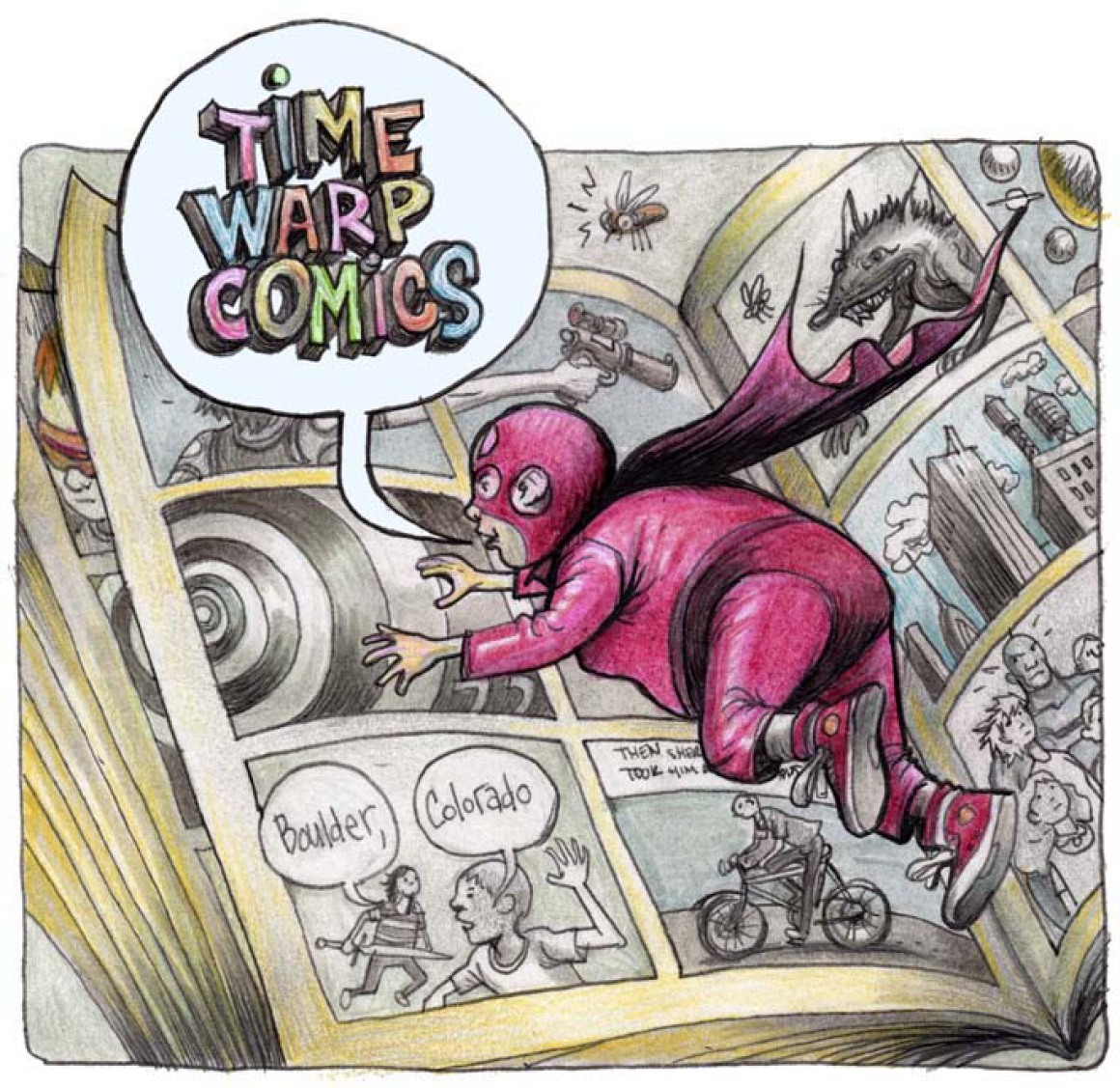 Time Warp Comics Logo